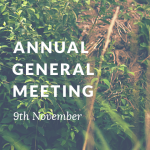 Annual General Meeting Wednesday 9th November 2016