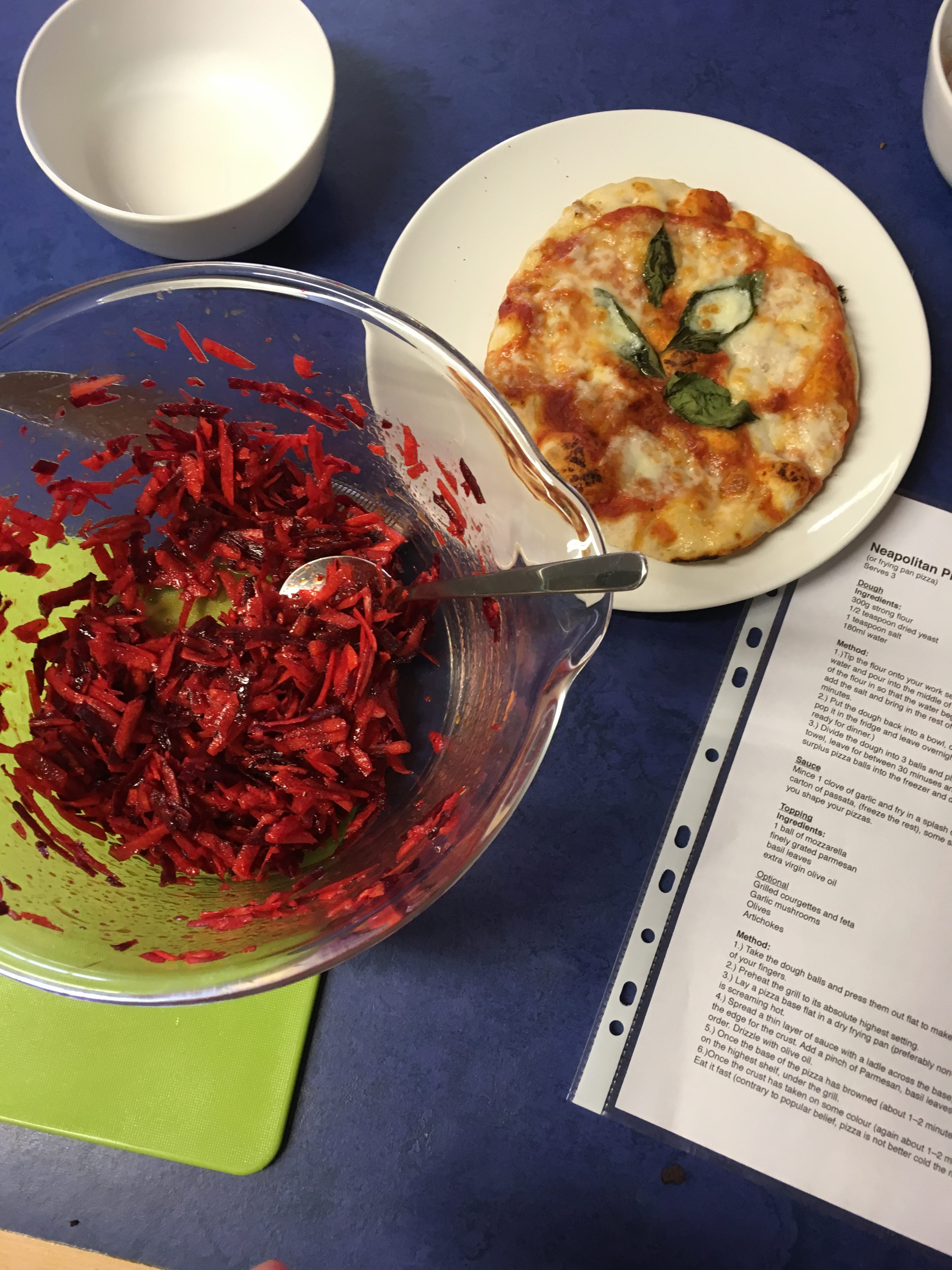 bowl of carrot and beetroot slaw