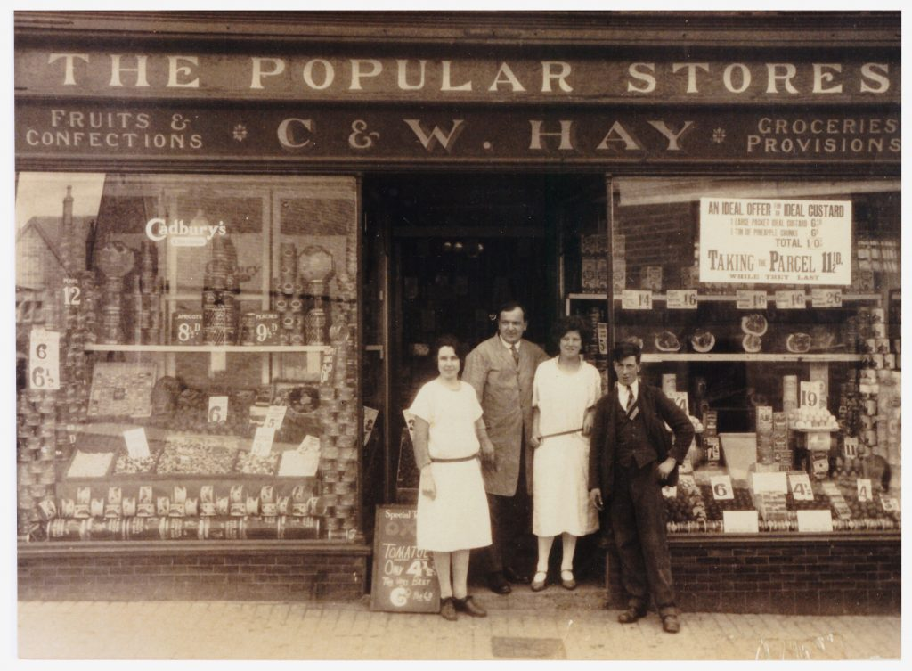 Hay's Shopfront and Workers