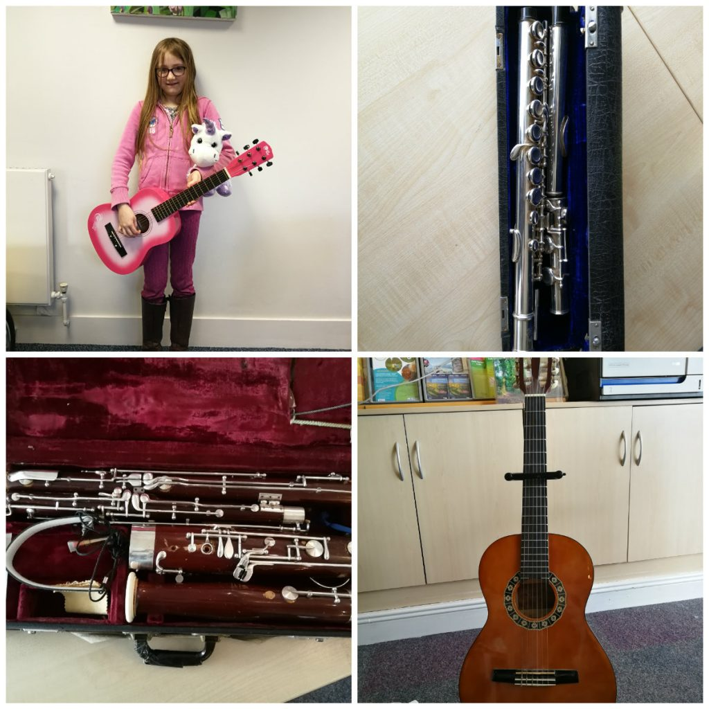 musical instrument amnesty collage